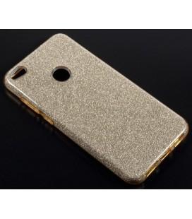 """Auksinės spalvos silikoninis blizgantis dėklas Huawei P8/P9 Lite 2017 telefonui """"Blink"""""""