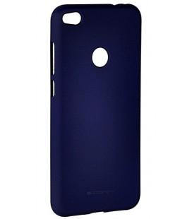 """Tamsiai mėlynas spalvos silikoninis dėklas Huawei P8/P9 Lite 2017 telefonui """"Mercury Soft Feeling"""""""