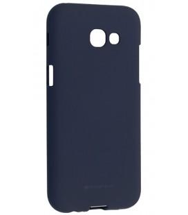 """Tamsiai mėlynas silikoninis dėklas Samsung Galaxy A5 2017 telefonui """"Mercury Soft Feeling"""""""