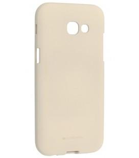"""Šviesiai pilkas silikoninis dėklas Samsung Galaxy A5 2017 telefonui """"Mercury Soft Feeling"""""""