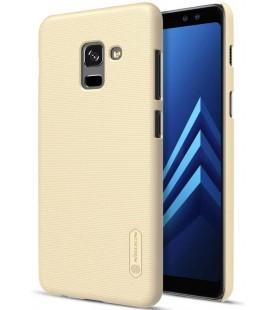 """Auksinės spalvos plastikinis dėklas Samsung Galaxy A8 2018 telefonui """"Nillkin Frosted Shield"""""""