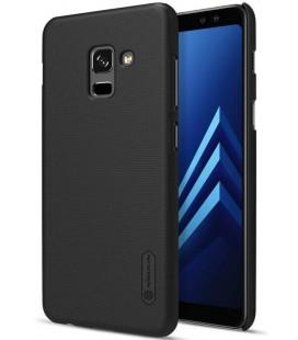"""Juodas plastikinis dėklas Samsung Galaxy A8 2018 telefonui """"Nillkin Frosted Shield"""""""