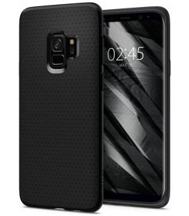 "Matinis juodas dėklas Samsung Galaxy S9 telefonui ""Spigen Liquid Air"""
