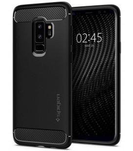 """Matinis juodas dėklas Samsung Galaxy S9 Plus telefonui """"Spigen Rugged Armor"""""""