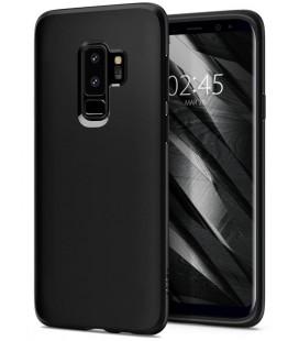 "Matinis juodas dėklas Samsung Galaxy S9 Plus telefonui ""Spigen Liquid Crystal"""