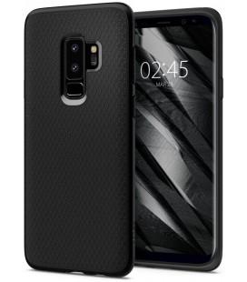 "Matinis juodas dėklas Samsung Galaxy S9 Plus telefonui ""Spigen Liquid Air"""