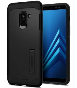 "Juodas dėklas Samsung Galaxy A8 2018 telefonui ""Spigen Slim Armor"""