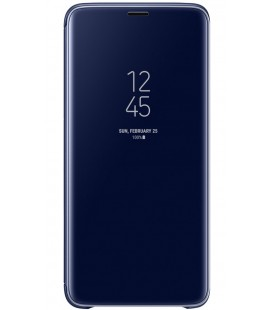 "Originalus mėlynas dėklas ""Clear View Standing Cover"" Samsung Galaxy S9 telefonui ef-zg960cle"