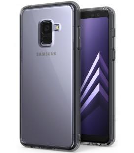 """Pilkas dėklas Samsung Galaxy A8 2018 telefonui """"Ringke Fusion"""""""