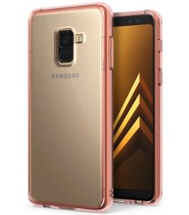 """Rausvai auksinės spalvos dėklas Samsung Galaxy A8 2018 telefonui """"Ringke Fusion"""""""