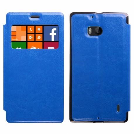 """Atverčiamas mėlynas dėklas Nokia Lumia 930 telefonui """"Slim View"""""""