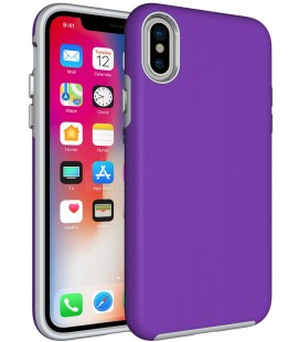 "Violetinis dėklas Apple iPhone X telefonui ""Armor Rugged"""