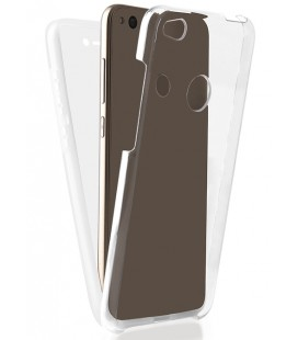 """Skaidrus dviejų dalių dėklas Huawei P8/P9 Lite 2017 telefonui """"360"""""""