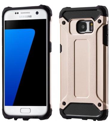 """Auksinės spalvos dėklas Samsung Galaxy S7 Edge telefonui """"Hybrid Armor Case"""""""