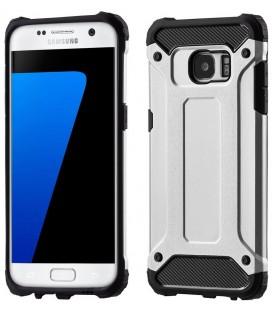 """Sidabrinės spalvos dėklas Samsung Galaxy S7 Edge telefonui """"Hybrid Armor Case"""""""