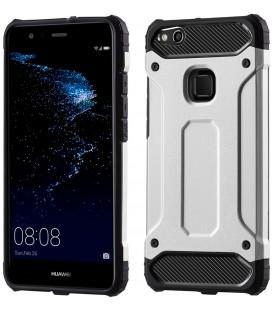 """Sidabrinės spalvos dėklas Huawei P10 Lite telefonui """"Hybrid Armor Case"""""""