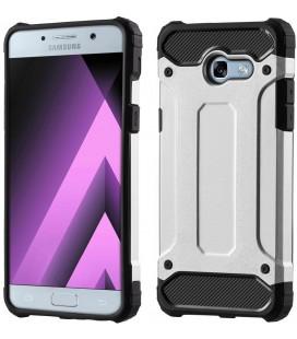 """Sidabrinės spalvos dėklas Samsung Galaxy A5 2017 telefonui """"Hybrid Armor Case"""""""