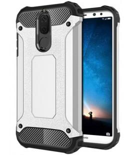 """Sidabrinės spalvos dėklas Huawei Mate 10 Lite telefonui """"Hybrid Armor Case"""""""