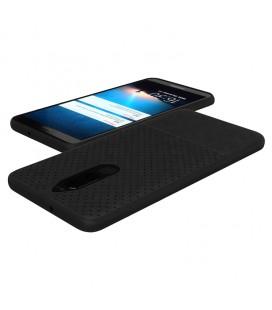 """Juodas dėklas su ornamentais Huawei P10 telefonui """"Lace Case D2"""""""