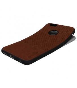 """Juodas dėklas su ornamentais Huawei Y7 telefonui """"Lace Case D4"""""""