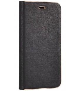 """Juodas atverčiamas dėklas su rėmeliu Samsung Galaxy A8 2018 telefonui """"Book Vennus Z"""""""
