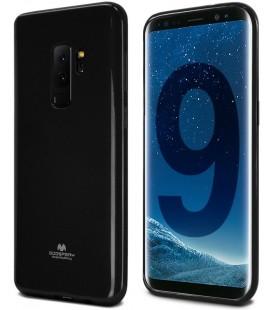 """Juodas silikoninis dėklas Samsung Galaxy S9 Plus telefonui """"Mercury Goospery Pearl Jelly Case"""""""
