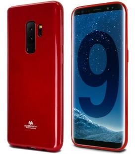 """Raudonas silikoninis dėklas Samsung Galaxy S9 Plus telefonui """"Mercury Goospery Pearl Jelly Case"""""""