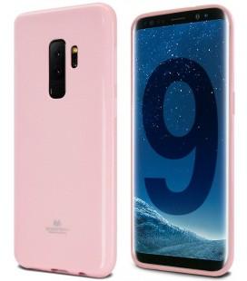 """Šviesiai rožinis silikoninis dėklas Samsung Galaxy S9 Plus telefonui """"Mercury Goospery Pearl Jelly Case"""""""