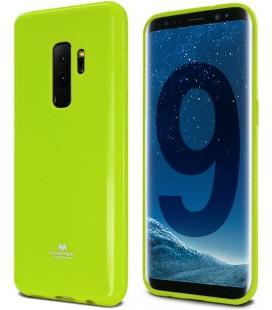 """Žalias silikoninis dėklas Samsung Galaxy S9 Plus telefonui """"Mercury Goospery Pearl Jelly Case"""""""