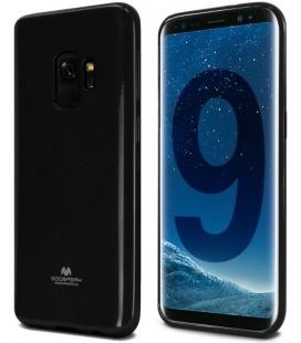 """Juodas silikoninis dėklas Samsung Galaxy S9 telefonui """"Mercury Goospery Pearl Jelly Case"""""""