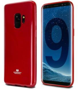 """Raudonas silikoninis dėklas Samsung Galaxy S9 telefonui """"Mercury Goospery Pearl Jelly Case"""""""