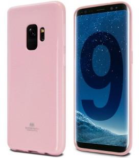 """Šviesiai rožinis silikoninis dėklas Samsung Galaxy S9 telefonui """"Mercury Goospery Pearl Jelly Case"""""""