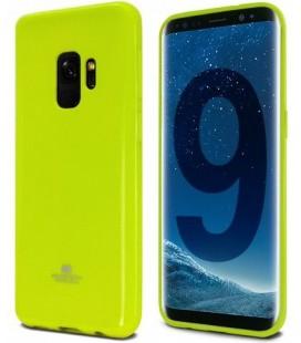 """Žalias silikoninis dėklas Samsung Galaxy S9 telefonui """"Mercury Goospery Pearl Jelly Case"""""""