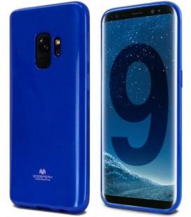 """Mėlynas silikoninis dėklas Samsung Galaxy S9 telefonui """"Mercury Goospery Pearl Jelly Case"""""""