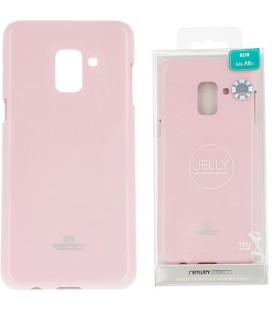 """Šviesiai rožinis silikoninis dėklas Samsung Galaxy A8 2018 telefonui """"Mercury Goospery Pearl Jelly Case"""""""