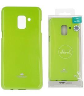 """Žalias silikoninis dėklas Samsung Galaxy A8 2018 telefonui """"Mercury Goospery Pearl Jelly Case"""""""