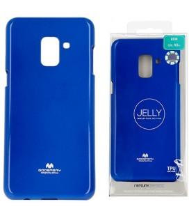 "Mėlynas silikoninis dėklas Samsung Galaxy A8 2018 telefonui ""Mercury Goospery Pearl Jelly Case"""