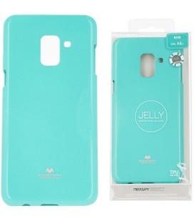 """Mėtos spalvos silikoninis dėklas Samsung Galaxy A8 2018 telefonui """"Mercury Goospery Pearl Jelly Case"""""""