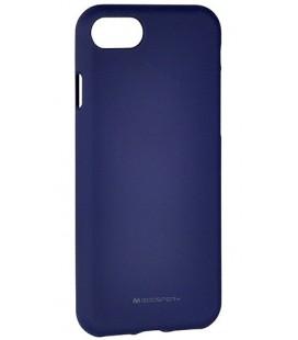 "Tamsiai mėlynas silikoninis dėklas Apple iPhone 7 telefonui ""Mercury Soft Feeling"""