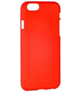 "Raudonas silikoninis dėklas Apple iPhone 6/6s telefonui ""Mercury Soft Feeling"""