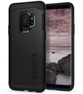 """Juodas dėklas Samsung Galaxy S9 telefonui """"Spigen Slim Armor"""""""