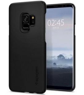 "Juodas dėklas Samsung Galaxy S9 telefonui ""Spigen Thin Fit"""