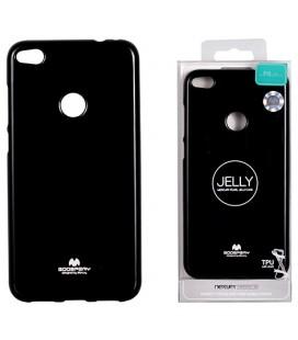 """Juodas silikoninis dėklas Huawei P8/P9 Lite 2017 telefonui """"Mercury Goospery Pearl Jelly Case"""""""
