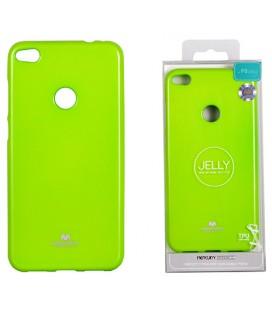 """Žalias silikoninis dėklas Huawei P8/P9 Lite 2017 telefonui """"Mercury Goospery Pearl Jelly Case"""""""