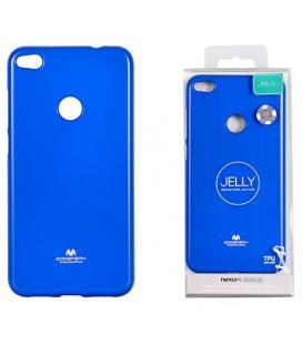 """Mėlynas silikoninis dėklas Huawei P8/P9 Lite 2017 telefonui """"Mercury Goospery Pearl Jelly Case"""""""