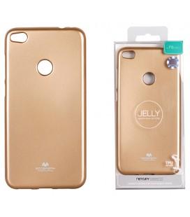 """Auksinės spalvos silikoninis dėklas Huawei P8/P9 Lite 2017 telefonui """"Mercury Goospery Pearl Jelly Case"""""""