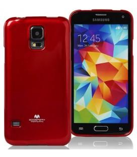 """Raudonas silikoninis dėklas Samsung Galaxy S5/S5 Neo telefonui """"Mercury Goospery Pearl Jelly Case"""""""