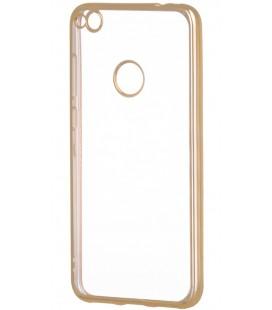 """Auksinės spalvos silikoninis dėklas Huawei P8/P9 Lite 2017 telefonui """"Glossy"""""""