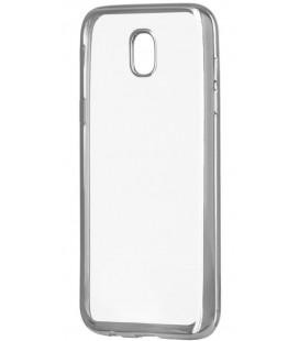 """Sidabrinės spalvos silikoninis dėklas Samsung Galaxy J5 2017 telefonui """"Glossy"""""""