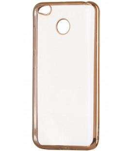 """Auksinės spalvos silikoninis dėklas Xiaomi Redmi 4X telefonui """"Glossy"""""""